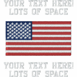Personalise USA Stars 'n Stripes FLAG Embroidery Embroidered Polo Shirt