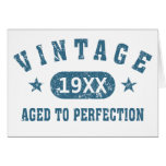 Personalise Vintage Aged to Perfection [blue] Greeting Card