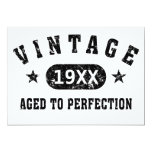 Personalise Vintage Aged to Perfection 13 Cm X 18 Cm Invitation Card