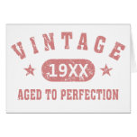 Personalise Vintage Aged to Perfection [pink] Greeting Card
