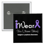 Personalise Violet Ribbon Hodgkin's Lymphoma Button
