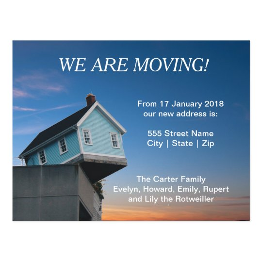 "Personalise ""We are Moving"" Postcard"