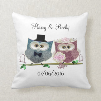 Personalise Wedding Memento Pillow