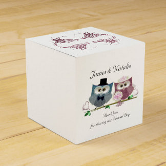 Personalise Wedding Owls Favour Box