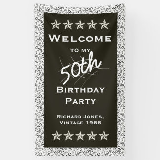 Personalise: Welcome to my 50th Birthday Party Banner