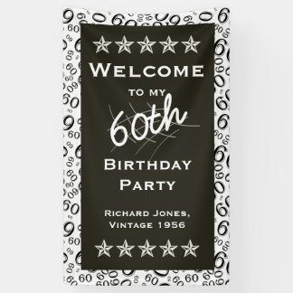 Personalise: Welcome to my 60th Birthday Party