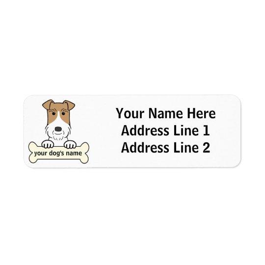 Personalise Wire Fox Terrier Return Address Label