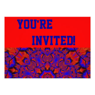 Personalise Your Crazy Red Party Invitation