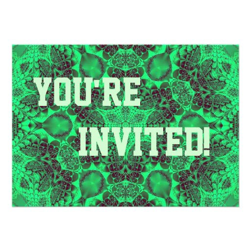 Personalise Your Pea Green Party Invitation