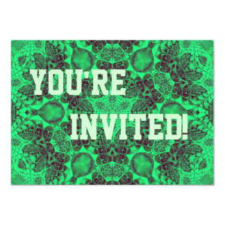 "Personalise Your Pea Green Party Invitation 5"" X 7"" Invitation Card"