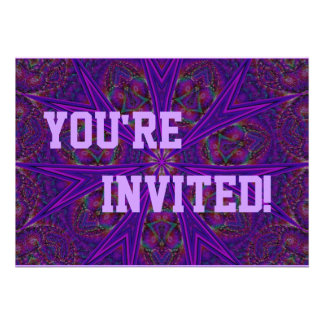 Personalise Your Purple Star Party Invitation