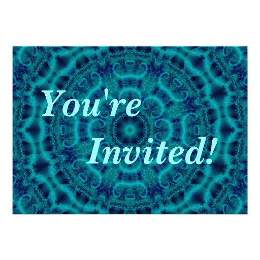 Personalise Your Turquoise Party Invitation