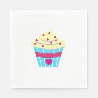 Personalise Yummylicous Cupcake Paper Napkin