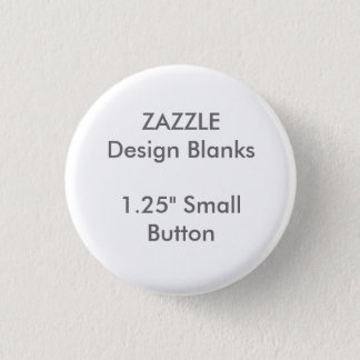 "Personalised 1.25"" Small Round Button Pin Template"