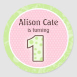 Personalised 1st Birthday Seal Round Sticker