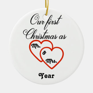 Personalised 1st Christmas as Mr. & Mrs. Ornament