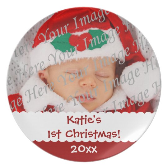 Personalised 1st Christmas Custom Photo Plate