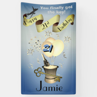 Personalised 21st Birthday Banner Idea For Guys