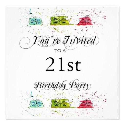 Personalised 21st Birthday Party Invitations