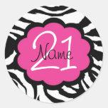 Personalised 21st Birthday Sticker