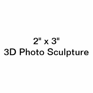 """Personalised 2"""" x 3""""  Photo Sculpture"""