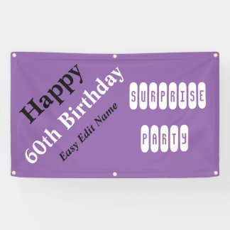 Personalised 60th Birthday Banner