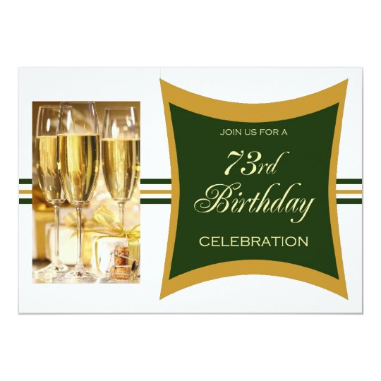 Personalised 73rd Birthday Party Invitations