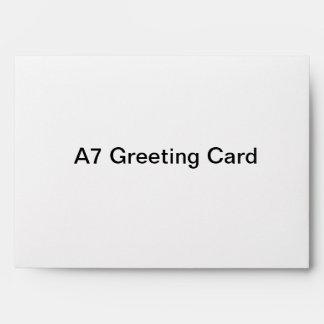 Personalised A7 Greeting Card Envelope