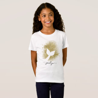 Personalised Add Name to Mermaid Tail Silhouette T-Shirt