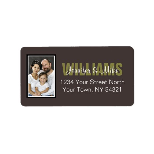 Personalised Address Label With Photo
