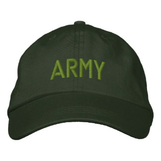 Personalised Adjustable Hat... ARMY Baseball Cap