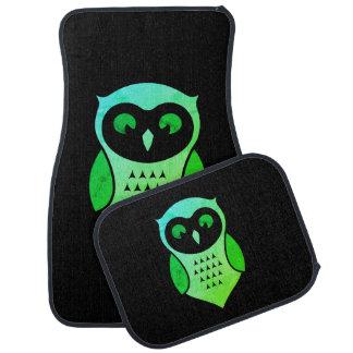 Personalised Adorable Green Hoot Owl Car Mat