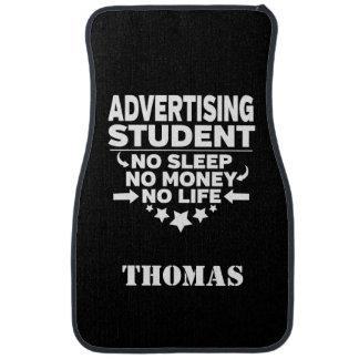 Personalised Advertising Student No Sleep Money Car Mat