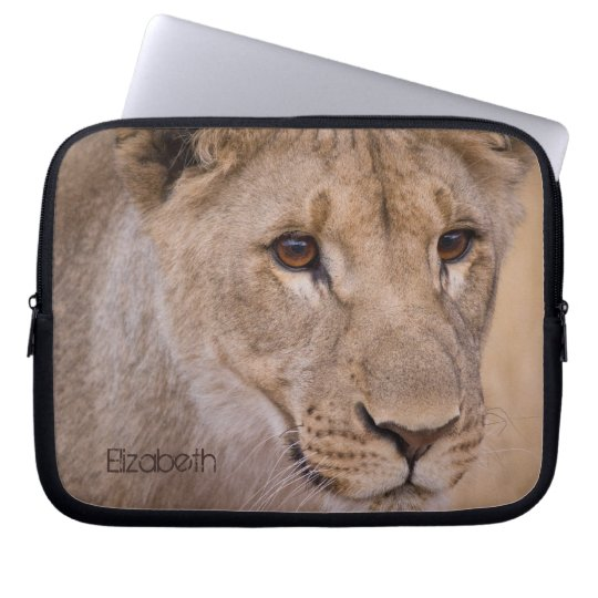 Personalised African Lion Laptop Sleeve