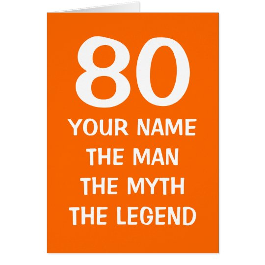 Personalised age specific Birthday card for men