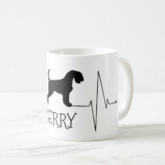 Personalised Airedale Love My Dog Heart Beat Coffee Mug