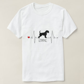 Personalised Airedale Love My Dog Heart Beat T-Shirt