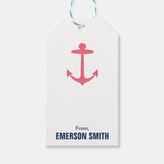 Personalised Anchor Nautical Birthday Gift Tag