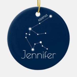 Personalised Aquarius Constellation Ornament