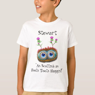Personalised As Scottish As Hoots Toots Haggis T-Shirt