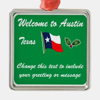 Personalised Austin TX Christmas Ornament