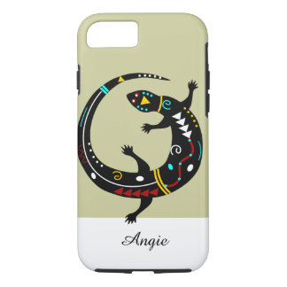 Personalised Aztec Southwest Tribal Lizard Design iPhone 7 Case
