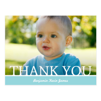 Personalised Baby Boy Thank You Card - 4.25 x 5.6