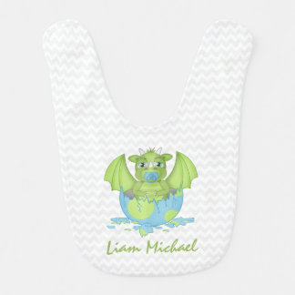 Personalised Baby Dragon Bib