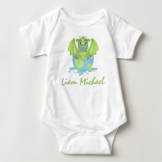 Personalised Baby Dragon Jersey Bodysuit