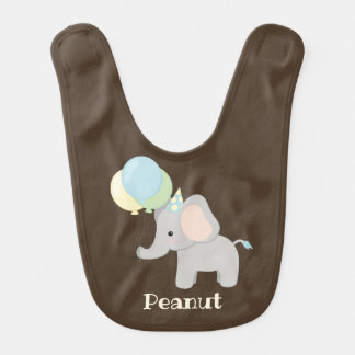 Personalised Baby Elephant Bib