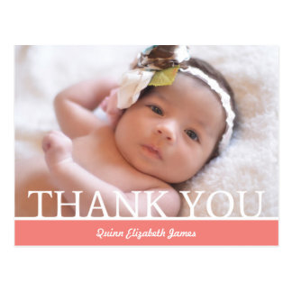 Personalised Baby Girl Thank You Card - 4.25 x 5.6 Postcard