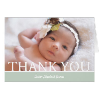 """Personalised Baby Girl Thank You Card - 5"""" x 7"""""""