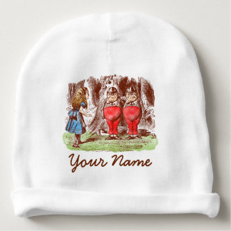 Personalised Baby Hat: Alice in Wonderland Tweedle Baby Beanie