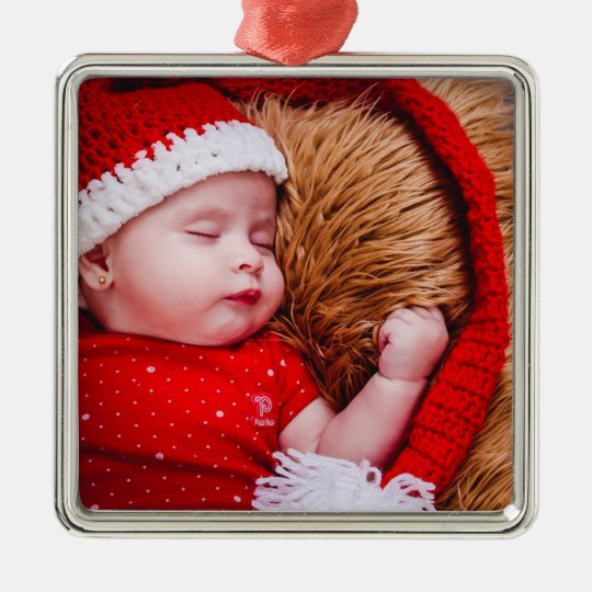 Personalised Baby Photo Christmas Ornament